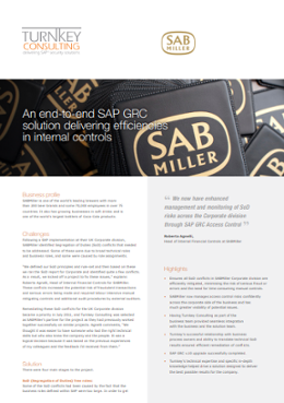 An end-to-end SAP GRC solution delivering efficiencies in internal controls-1