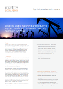 Enabling global reporting and reducing support costs with automated security access in SAP BW-1