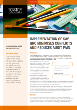 Implementation of SAP GRC minimises conflicts and reduces audit pain-1