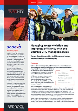 SAP GRC Managed service sodexo