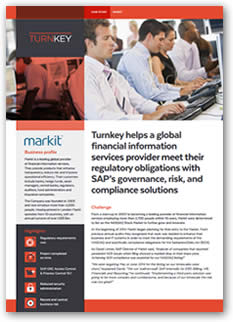Turnkey helps a global financial information services provider meet their regulatory obligations