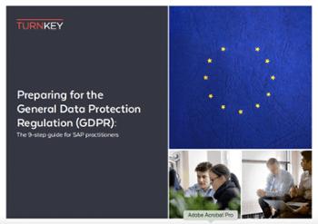 GDPR 9 point plan SAP GRC