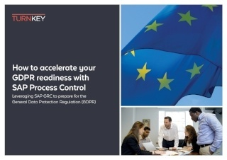 Ho to accelerate your GDPR readiness with SAP Process Control