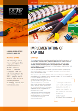 Implementation of SAP IDM-1