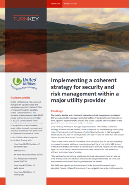 Implementing a strategy for security and risk management within a major utility provider-1