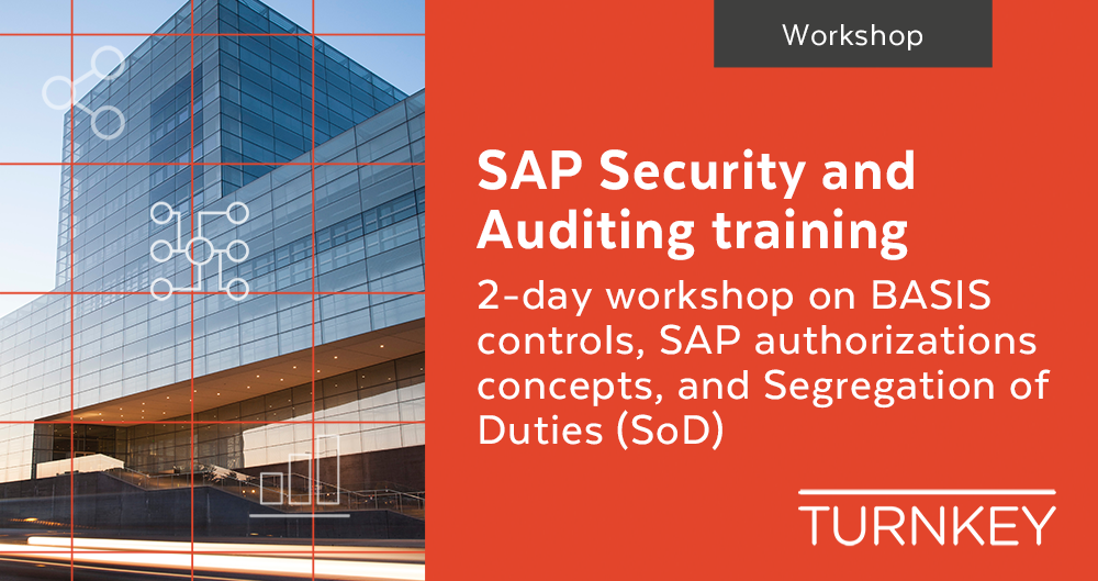 SAP Security and Auditing training workshop Event page image