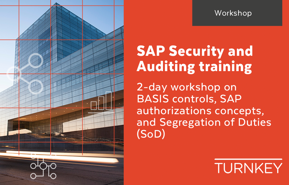SAP Security and Auditing training workshop