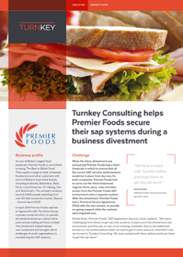 Turnkey Consulting helps Premier Foods secure their SAP systems during a business divestment-1