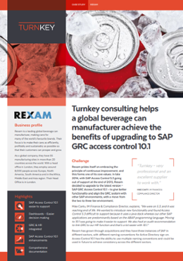 Turnkey Consulting helps a global beverage can manufacturer achieve the benefits of upgrading to SAP GRC access control 10.1-1
